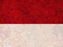 Κατασκευασμένη σημαία της Ινδονησίας στα συμπαθητικά χρώματα στοκ εικόνες με δικαίωμα ελεύθερης χρήσης