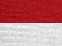 Κατασκευασμένη σημαία της Ινδονησίας στα συμπαθητικά χρώματα Στοκ Φωτογραφία