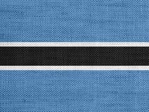 Κατασκευασμένη σημαία της Μποτσουάνα Στοκ φωτογραφίες με δικαίωμα ελεύθερης χρήσης