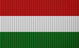Κατασκευασμένη σημαία της Ουγγαρίας στα συμπαθητικά χρώματα Στοκ Φωτογραφία