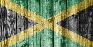 Κατασκευασμένη σημαία της Τζαμάικας στα συμπαθητικά χρώματα στοκ φωτογραφία με δικαίωμα ελεύθερης χρήσης