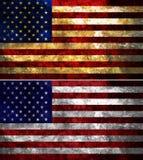 Κατασκευασμένη σημαία των Ηνωμένων Πολιτειών της Αμερικής Στοκ Εικόνες