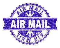 Κατασκευασμένη σφραγίδα γραμματοσήμων ΤΑΧΥΔΡΟΜΕΊΟΥ AIR Grunge με την κορδέλλα ελεύθερη απεικόνιση δικαιώματος