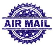 Κατασκευασμένη σφραγίδα γραμματοσήμων ΤΑΧΥΔΡΟΜΕΊΟΥ AIR Grunge διανυσματική απεικόνιση