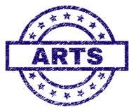 Κατασκευασμένη σφραγίδα γραμματοσήμων ΤΕΧΝΩΝ Grunge διανυσματική απεικόνιση