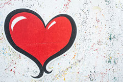 Κατασκευασμένη χρωματισμένη paining έννοια χρώματος γραμμών καρδιών σημείων τοίχων Στοκ Εικόνες