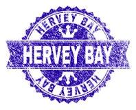 Κατασκευασμένη HERVEY σφραγίδα γραμματοσήμων ΚΌΛΠΩΝ Grunge με την κορδέλλα απεικόνιση αποθεμάτων