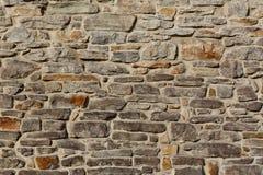 Κατασκευασμένος αγροτικός τοίχος πετρών υποβάθρου Στοκ Φωτογραφία