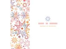 Κατασκευασμένος οριζόντιος άνευ ραφής αστεριών Χριστουγέννων Στοκ Εικόνα