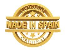 Κατασκευασμένος στην Ισπανία, τρισδιάστατη απεικόνιση ελεύθερη απεικόνιση δικαιώματος