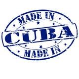Κατασκευασμένος στην Κούβα διανυσματική απεικόνιση