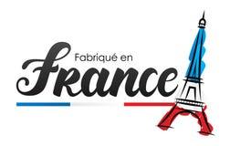 Κατασκευασμένος στη Γαλλία στα γαλλικά: Fabriqué EN Γαλλία απεικόνιση αποθεμάτων