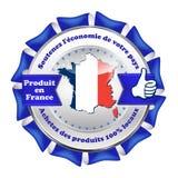 Κατασκευασμένος στη Γαλλία, στηρίξτε τη εθνική οικονομία - κορδέλλα Στοκ Φωτογραφία