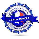 Κατασκευασμένος στη Γαλλία, στηρίξτε τη εθνική οικονομία - κορδέλλα Στοκ Εικόνα