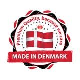 Κατασκευασμένος στη Δανία, εξαιρετική ποιότητα Στοκ εικόνα με δικαίωμα ελεύθερης χρήσης