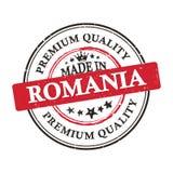Κατασκευασμένος στη Ρουμανία, εκτυπώσιμη αυτοκόλλητη ετικέττα εξαιρετικής ποιότητας grunge Στοκ Εικόνες
