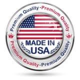 Κατασκευασμένος στις ΗΠΑ, εξαιρετική ποιότητα - λαμπρό κομψό κουμπί Στοκ φωτογραφία με δικαίωμα ελεύθερης χρήσης