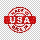 Κατασκευασμένος στις ΗΠΑ κόκκινο γραμματόσημο Στοκ Εικόνες