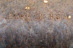 Κατασκευασμένος στις ΗΠΑ σκουριασμένη ανασκόπηση Στοκ εικόνα με δικαίωμα ελεύθερης χρήσης