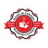 Κατασκευασμένος στον Καναδά, αυτοκόλλητη ετικέττα εξαιρετικής ποιότητας για την τυπωμένη ύλη Στοκ Εικόνα