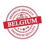 Κατασκευασμένος στο Βέλγιο, γραμματόσημο εξαιρετικής ποιότητας Στοκ Εικόνα