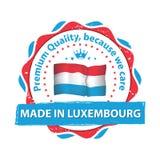 Κατασκευασμένος στο Λουξεμβούργο, γραμματόσημο εξαιρετικής ποιότητας Στοκ Φωτογραφία