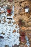 Κατασκευασμένος τοίχος πετρών υποβάθρου Στοκ εικόνες με δικαίωμα ελεύθερης χρήσης