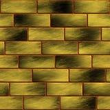 κατασκευασμένος τοίχος τούβλου κίτρινος Στοκ εικόνα με δικαίωμα ελεύθερης χρήσης