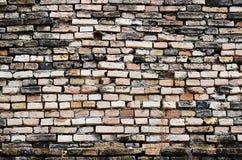 κατασκευασμένος τοίχος τούβλου ανασκόπησης Στοκ φωτογραφία με δικαίωμα ελεύθερης χρήσης