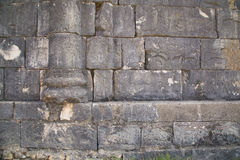 Κατασκευασμένος τοίχος φιαγμένος από αρχαίες πέτρες, Volubilis, Μαρόκο Στοκ φωτογραφία με δικαίωμα ελεύθερης χρήσης