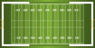 Κατασκευασμένος τομέας αμερικανικού ποδοσφαίρου χλόης Στοκ εικόνα με δικαίωμα ελεύθερης χρήσης