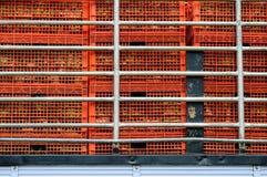 Κατασκευασμένος των κόκκινων κιβωτίων Στοκ φωτογραφίες με δικαίωμα ελεύθερης χρήσης