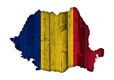 Κατασκευασμένος χάρτης της Ρουμανίας στα συμπαθητικά χρώματα Στοκ Εικόνες