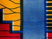 Κατασκευασμένο αφρικανικό ύφασμα (βαμβάκι) Στοκ εικόνα με δικαίωμα ελεύθερης χρήσης