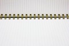 κατασκευασμένο λευκό εγγράφου σελίδων σημειωματάριων ανασκοπήσεων απομονωμένο συλλογή Στοκ Φωτογραφία