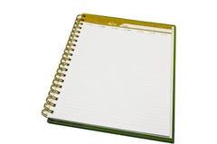 κατασκευασμένο λευκό εγγράφου σελίδων σημειωματάριων ανασκοπήσεων απομονωμένο συλλογή Στοκ Εικόνα
