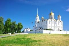 1158 κατασκευασμένο καλοκαίρι της Ρωσίας 1160 υπόθεσης καθεδρικός ναός vladimir Στοκ Εικόνες