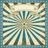 κατασκευασμένο μπλε αναδρομικό τετραγωνικό υπόβαθρο Στοκ Φωτογραφίες