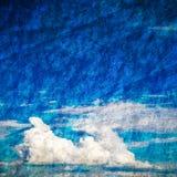 Κατασκευασμένο υπόβαθρο μπλε ουρανού Grunge Στοκ Εικόνα