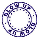 Κατασκευασμένο ΧΤΥΠΗΜΑ Grunge - ΕΠΑΝΩ γύρω από τη σφραγίδα γραμματοσήμων διανυσματική απεικόνιση
