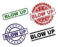 Κατασκευασμένο ΧΤΥΠΗΜΑ Grunge - ΕΠΑΝΩ σφραγίστε τα γραμματόσημα ελεύθερη απεικόνιση δικαιώματος