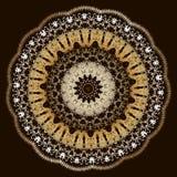 Κατασκευασμένο floral σχέδιο mandala δαντελλών κεντητικής Διανυσματική ζωηρόχρωμη μπαρόκ διακόσμηση ταπήτων E Κεντημένος ραμμένος απεικόνιση αποθεμάτων