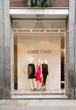 ΚΑΤΑΣΚΕΥΑΣΜΕΝΟΣ ΣΤΗΝ ΙΤΑΛΙΑ: Roberto Cavalli Boutique Στοκ Εικόνες