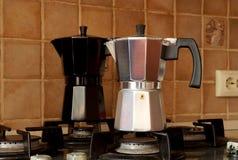 Κατασκευαστής καφέ του τύπου geyzer ` s Στοκ φωτογραφίες με δικαίωμα ελεύθερης χρήσης
