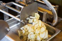 Κατασκευαστής τηγανητών σγουρών, πατατών κορδελλών στοκ φωτογραφία
