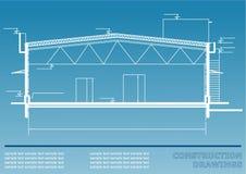 Κατασκευαστικά σχέδια Απεικόνιση εφαρμοσμένης μηχανικής Στοκ Φωτογραφίες