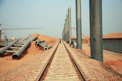 Κατασκευαστικό πρόγραμμα σιδηροδρομικών σταθμών LongMen Luoyang στο σιδηρόδρομο υψηλής ταχύτητας Zhengxi στοκ εικόνα
