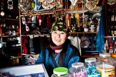 Καταστήματα ακρών του δρόμου στον τρόπο στο πέρασμα Nathula Στοκ φωτογραφίες με δικαίωμα ελεύθερης χρήσης