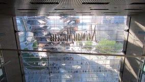 Καταστήματα και εστιατόρια -1 ναυπηγείων του Hudson απόθεμα βίντεο