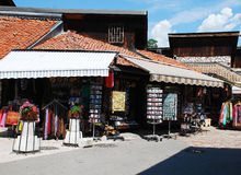 Καταστήματα σε Bascarsija, Σαράγεβο Στοκ φωτογραφία με δικαίωμα ελεύθερης χρήσης